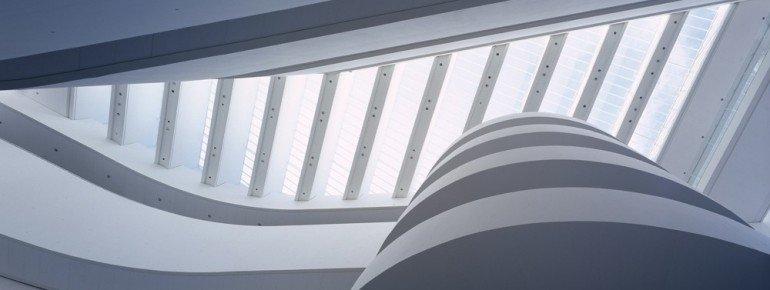 Das Gebäude des ARoS Kunstmuseum bietet interessante Blickwinkel