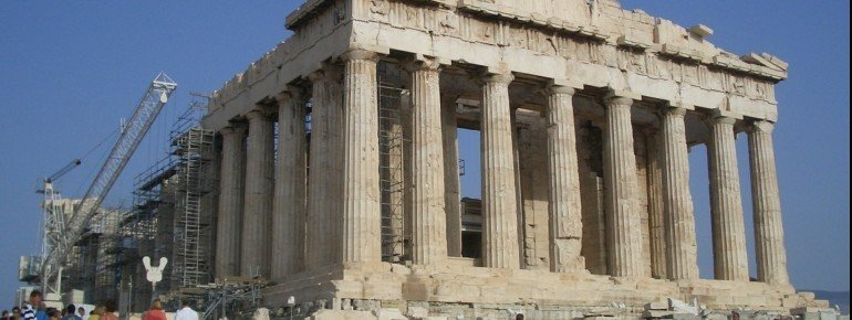 Das Parthenon auf der Akropolis