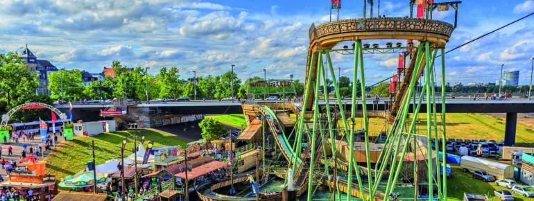 Im Allgäu Skyline Park steht die größte transportable Wasserbahn der Welt.