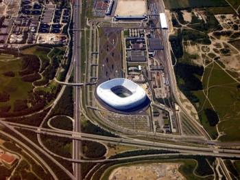 Allianz Stadion aus der Vogelperspektive