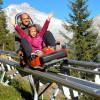 Der Alpine Coaster 'Klausberg Flitzer' ist die längste Alpen-Rodelbahn Italiens.