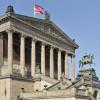 Das Museum wurde im Stil eines antiken Tempels gebaut.
