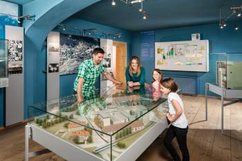 Im Salzmuseum findest du auch ein Modell des großen Geländes.