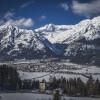 Blick auf Hall und den Naturpark Karwendel