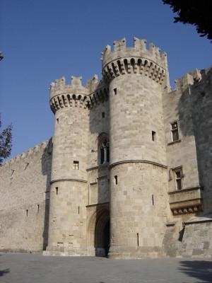 Der Eingang des Palasts