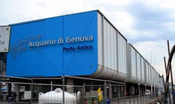 Das Aquarium befindet sich im Hafen von Genua.