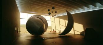 Sonne, Mond und Sterne – Großskulpturen bilden Elemente der Himmelsscheibe nach.