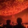 Die Ausstellung Deep Space 8K bietet Bildwelten in 8K-Auflösung.