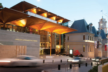 Das 2011 neu eröffnete Hauptgebäude der Auckland Art Gallery.