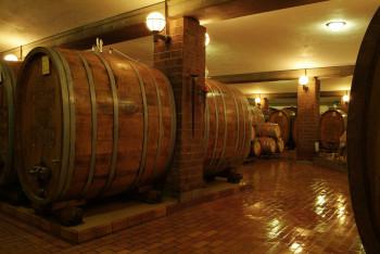 Beeindruckende Holzfässer im Badischen Winzerkeller