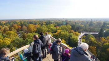 Am Turm befinden sich 5 Meter große Aussichtsplattformen.