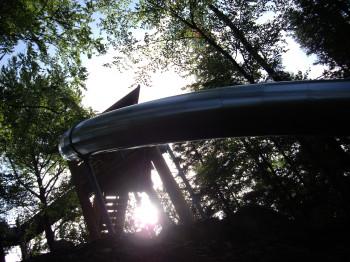 Die Riesenröhrenrutsche ist die längste Highspeed-Röhrenrutsche Europas.