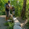 Der Bergwaldpfad fürht zu einem Abenteuerspielplatz.