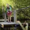 Auf dem Auwaldpfad musst du ein Floß steuern.