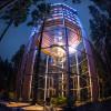 Nachts herrscht auf dem Bauwipfelpfad Lipno eine ganz besondere Atmosphäre.
