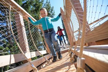 Kinder lieben die Erlebnisstationen.