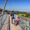 Die interessante und filigrane Hängebrückenkonstruktion ist ein echtes Erlebnis und tolles Ausflugsziel für Klein und Groß.
