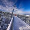 Von Anfang November bis Ende Januar ist der Skywalk geschlossen. Ab Februar lässt sich die winterliche Landschaft genießen.