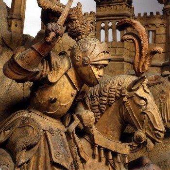 Bollert - Der heilige Georg im Kampf mit dem Drachen Niederrhein, um 1510/20