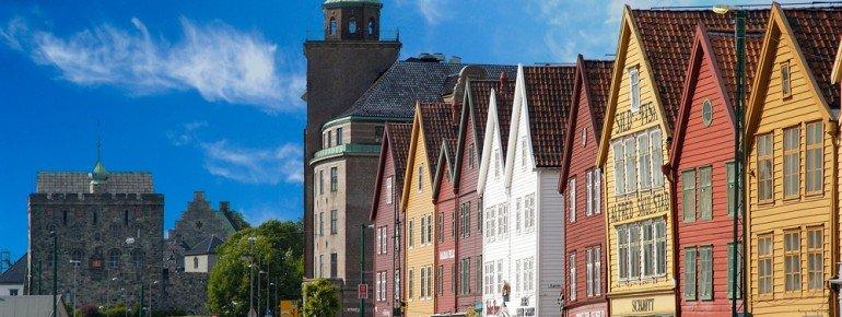 Die berühmten bunten Hausfassaden