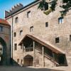 Blick in den Inneren Burghof der Burg Burghausen.