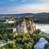 Von der Burg aus hat man einen tollen Blick auf die Donau und den March.