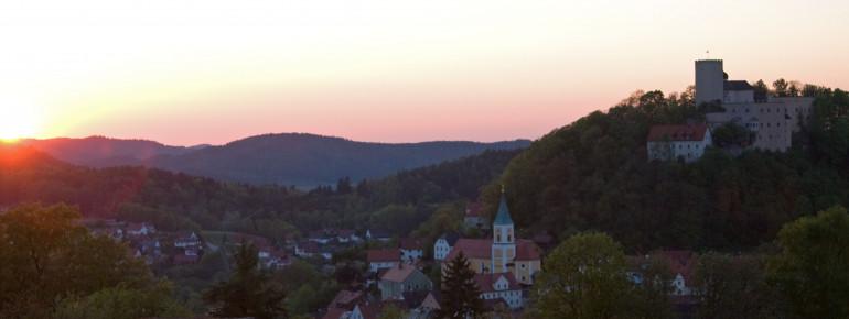 Burg Falkenstein Sonnenuntergang