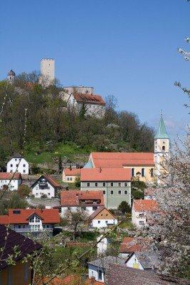 Blick auf Burg Falkenstein