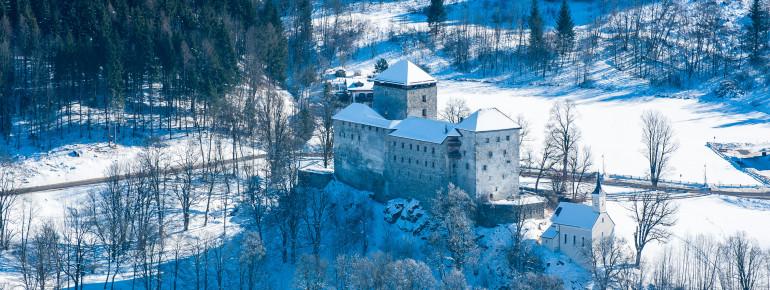 Die Burg Kaprun im Winter