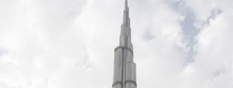 Der Burj Khalifa in Dubai - das höchste Gebäude der Welt.
