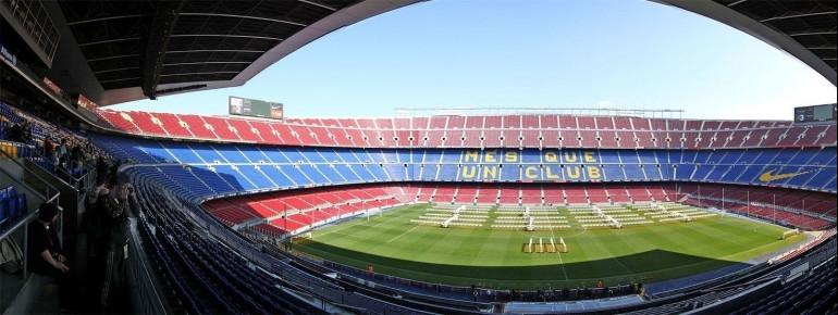 Das Camp Nou Stadion in Barcelona von innen