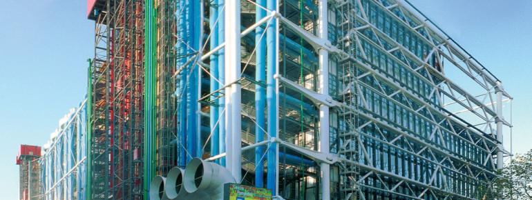 Außenansicht des Centre Pompidou