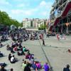 Blick auf den Vorplatz des Centres Pompidou.