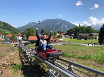 Der Startpunkt des Chiemgau Coasters liegt direkt am Ortseingang von Ruhpolding.