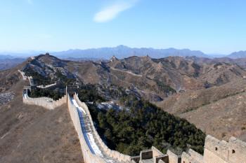 Von der Chinesischen Mauer aus bietet sich ein toller Ausblick.