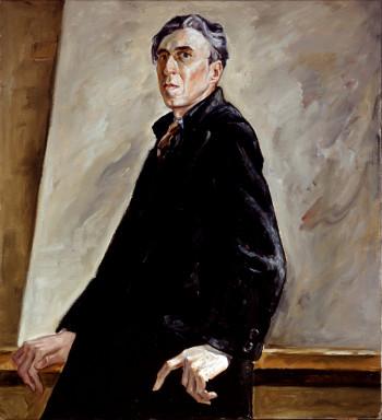Ein Selbstporträt von Clyfford Still im Clyfford Still Museum in Denver.