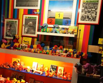 """Olympiamaskottchen """"Waldi"""" ist ebenfalls im Dackelmuseum vertreten."""