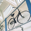 Der Fahrradvorhang in Halle III.