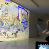 Im Spielbereich im Untergeschoss gibt es ein computergeneriertes Bewegungsspiel.