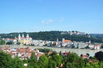 Vom Kloster hast du eine herrliche Aussicht über Passau.