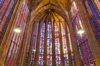 Die Chorhalle wird auch Glashaus von Aachen genannt.