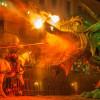 Der Ritter tötet den Drachen