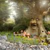 Im Märchenwald steht der sprechende Baum, der Märchen erzählt.