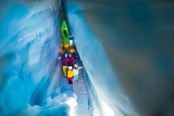 Die Blaue Kammer gehört zu den Highlights im Natur Eis Palast.