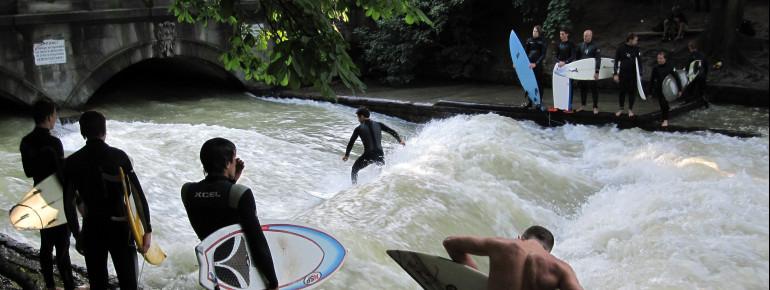 Die Welle ist nur für wirklich erfahrene Surfer geeignet.
