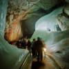 Eine der faszinierenden Formen in der Höhle: die Eisorgel