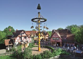 Im Erlebnispark Tripsdrill dreht sich alles um das Thema Schwaben anno 1880.