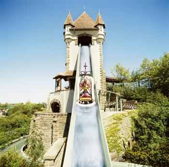 Die Badewannenfahrt zum Jungbrunnen hat die höchste Wildwasser-Schussfahrt Europas.