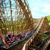 Die Holzachterbahn Mammut ist 30 Meter hoch.