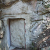 Der Eingang des Etschgquelle-Bunkers